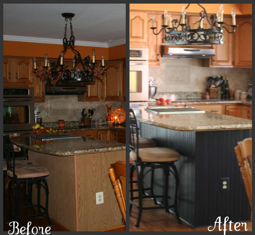 Kitchen Island Additions: Our Life In A Click: {Updating The Abode}