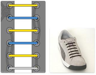 Tali Sepatu Bagus Simpul Tersembunyi (Hildden Knot Lacing)