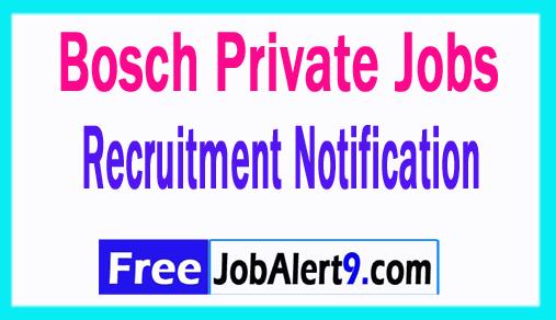 Bosch Recruitment Notification 2018