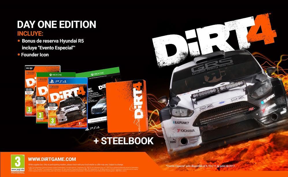 Descubre las ediciones de Dirt 4 y el nuevo diario de desarrollo