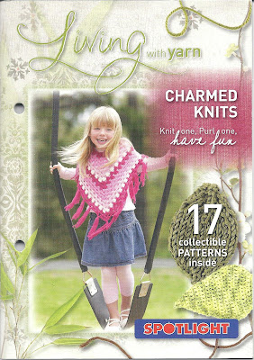 Cover of Living with Yarn-Charmed Knits booklet.