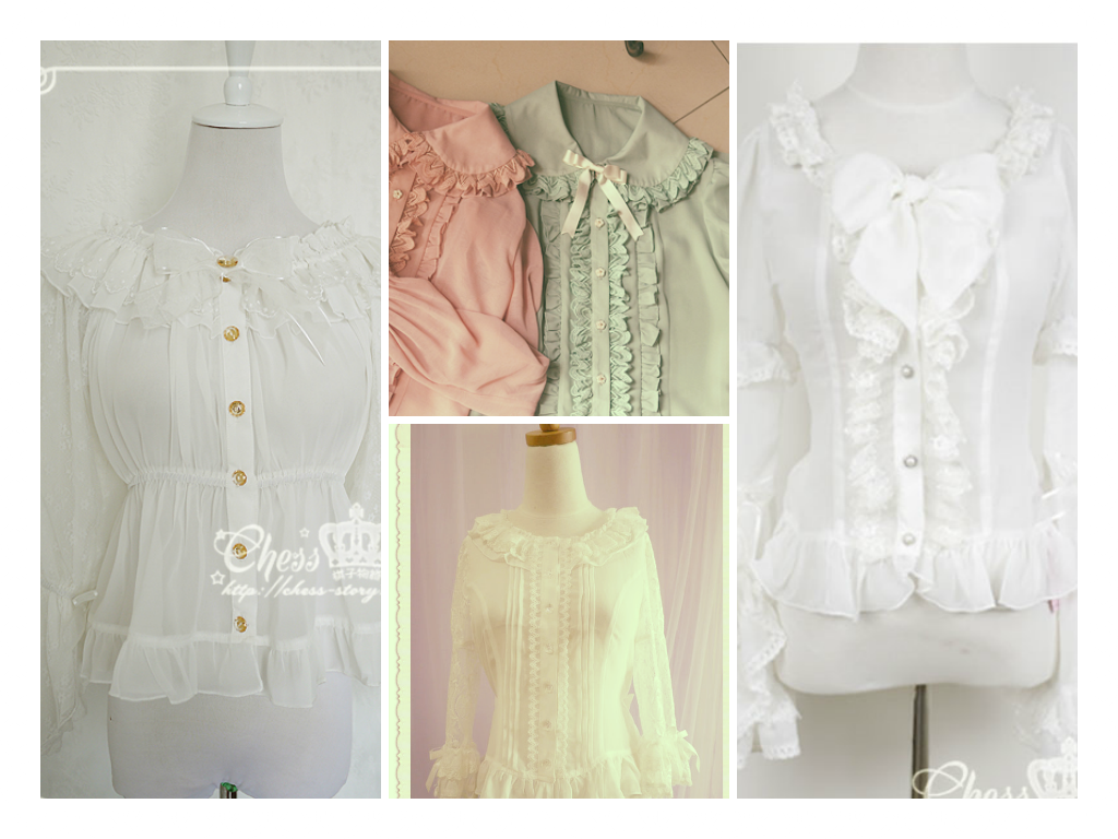 efcf8d9f5519 Most of these blouses are from ChessStory and the two coloured ones are  from HmHm. These two shops are my favorite, selling the most princessy  items.