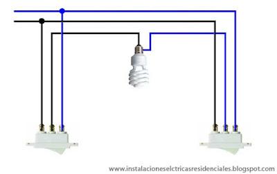Instalaciones eléctricas residenciales - apagadores de tres vías en corto circuito