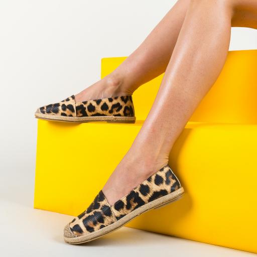 Espadrile femei de vara cu imprimeu leopard
