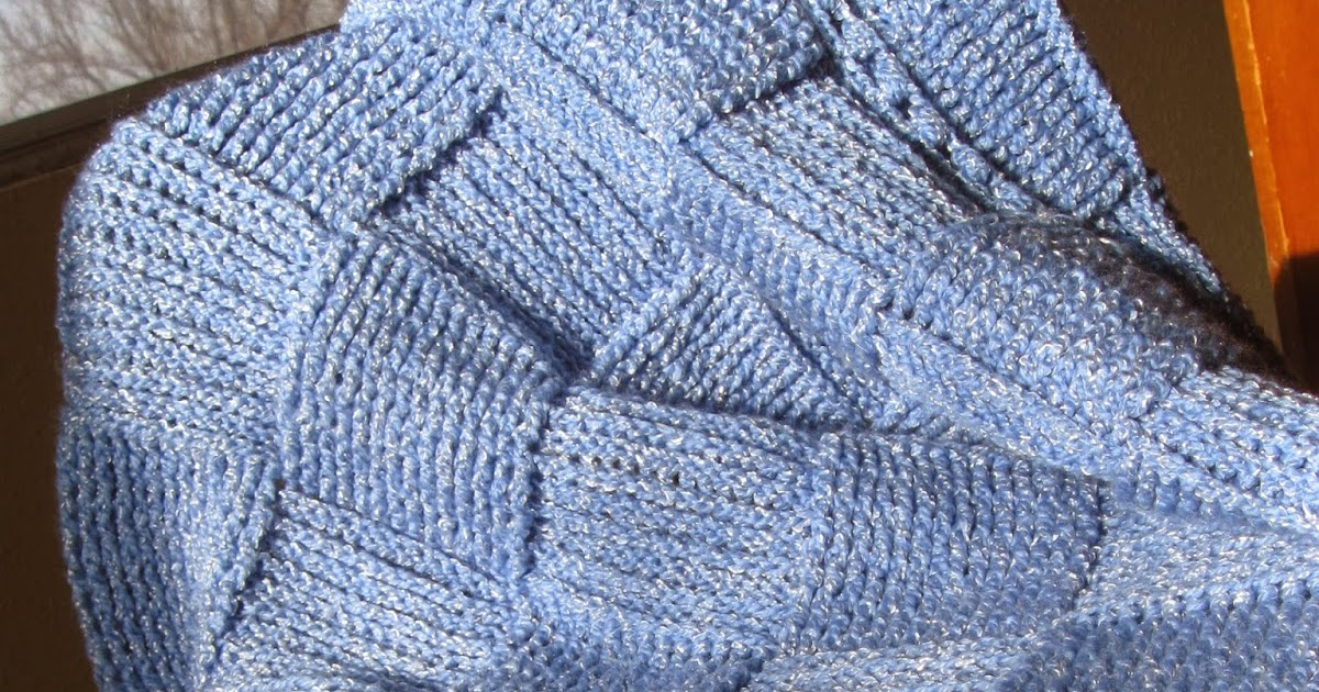 Gladness Of Heart Basket Weave Pattern Crochet Baby Afghan