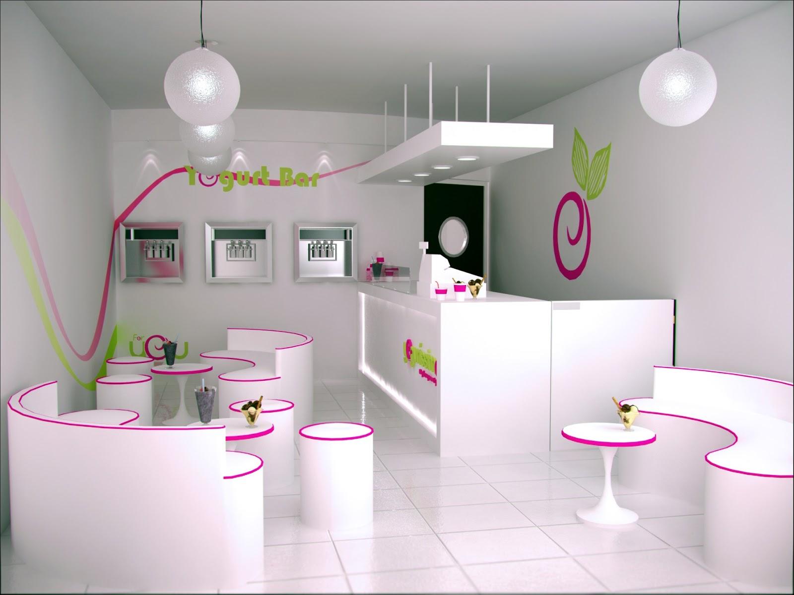 Dise o interior local comercial yogurissimo for Imagenes de diseno de interiores
