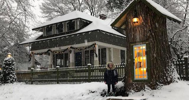 Γυναίκα έφτιαξε βιβλιοθήκη για όλη τη γειτονιά μέσα σε δέντρο που σάπιζε και είναι ό,τι πιο εκπληκτικό είδαμε