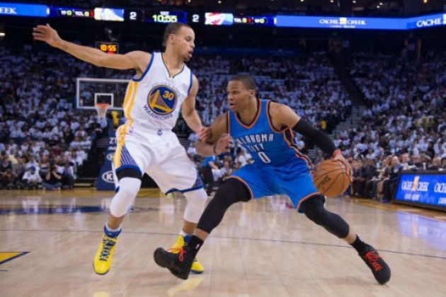 Stephen Curry (Golden State Warriors) vs Russell Westbrook (Oklahoma City Thunder) #NBA