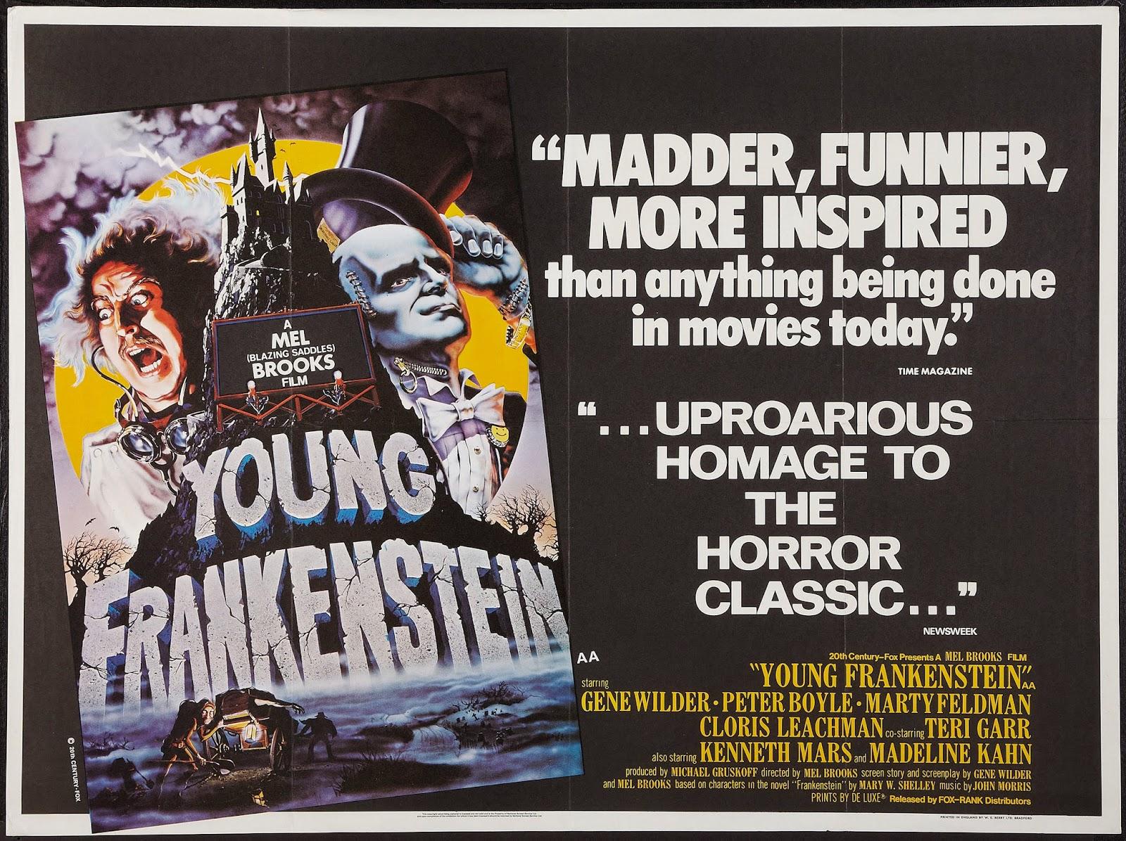 mel brooks young frankenstein vintage movie poster merinomartinez com