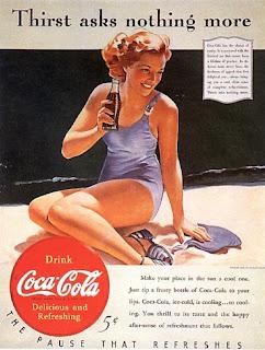 Resultado de imagen de gil elvgren anuncio coca cola 40-50
