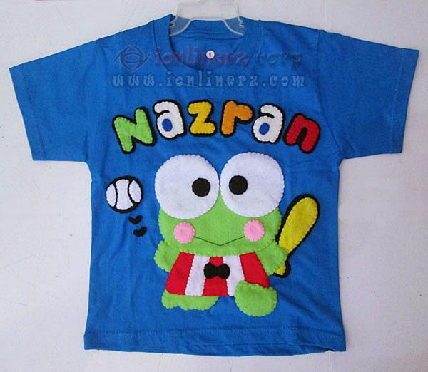 Kaos / Baju Flanel Anak Karakter Kartun Keroppi