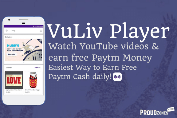 Vuliv player app earn free paytm cash money