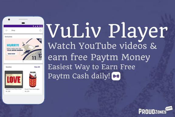 Vuliv player app earn free paytm cash money