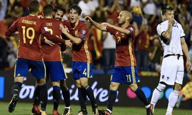 فيديو : إسبانيا تتأهل رسميا إلى المونديال بعد الفوز على ألبانيا بثلاثية