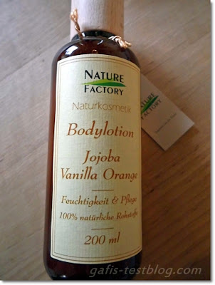 Nature Factory- Bodylotion Jojoba Vanille Orange