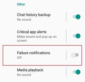 Failure Notifications