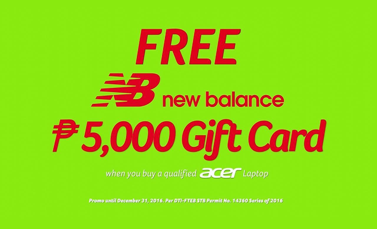 acer promo new balance