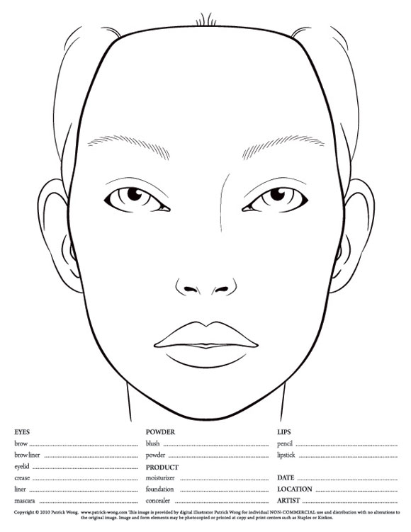 wundervoller blog: face charts diagram of body with face
