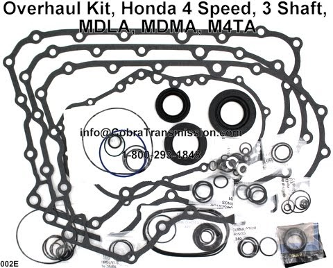 Cobra Transmission Parts 1-800-293-1848: Honda M4TA, MDLA
