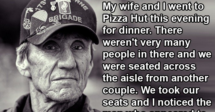 Image result for He Approached A Disabled Veteran Who Was Eating With His Wife, But Was Stunned When He Did This.