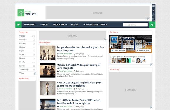 mBlog Blogger Template