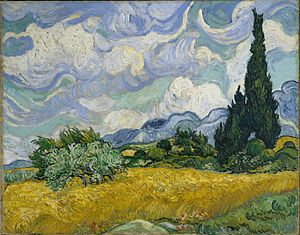 """""""A Wheatfield with Cypresses"""", Vincent van Gogh"""