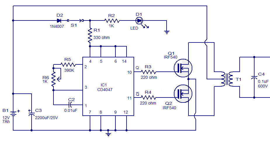 gps circuit schematic gps circuit board diagram simple circuit schematic 100w inverter using ic cd4047 and #1