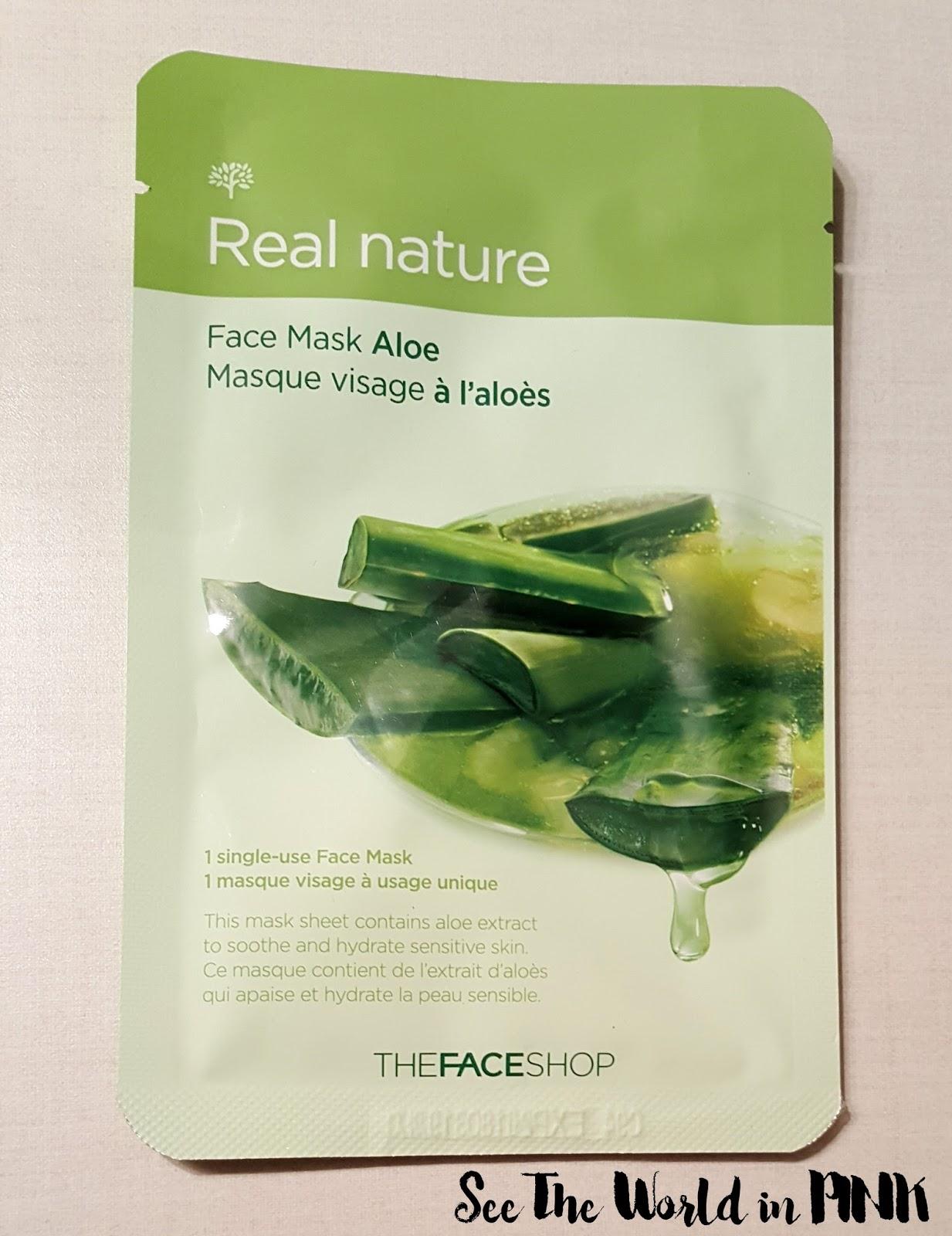the face shop real nature mask aloe