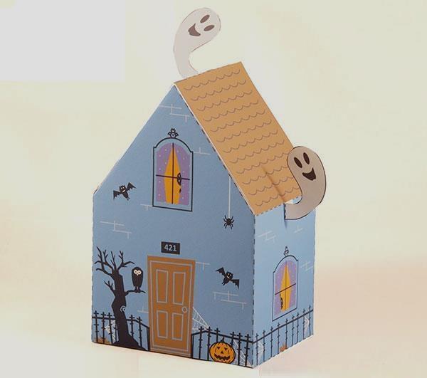 Papercraft imprimible y armable de una Casa Fantasma / Haunted  House. Manualidades a Raudales.