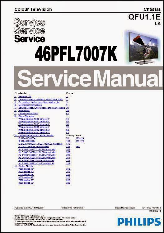philips 46pfl7007k qfu1 1e la chassis smart led tv service manual rh plus google com service manual philips senseo service manual philips lcd tv