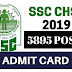 SSC CGL 2019 Admit Card Out | Download Here !