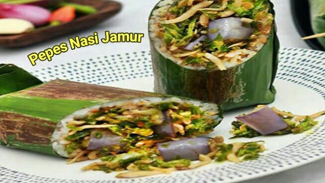 resep pepes nasi jamur