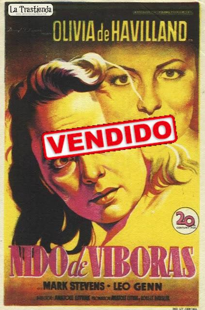 Programa de Cine - Nido de Víboras - Olivia de Havilland - Mark Stevens
