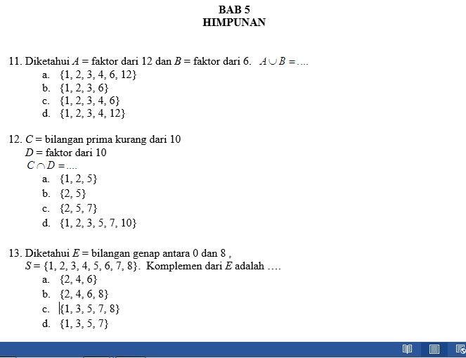 Contoh Soal Cpns Belajar Matematika Dasar Komplemen Himpunan