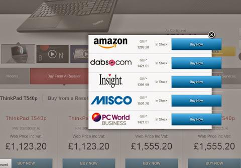 圖片說明: WTB 何處購應用說明, 圖片來源: Lenovo UK 網站捷圖