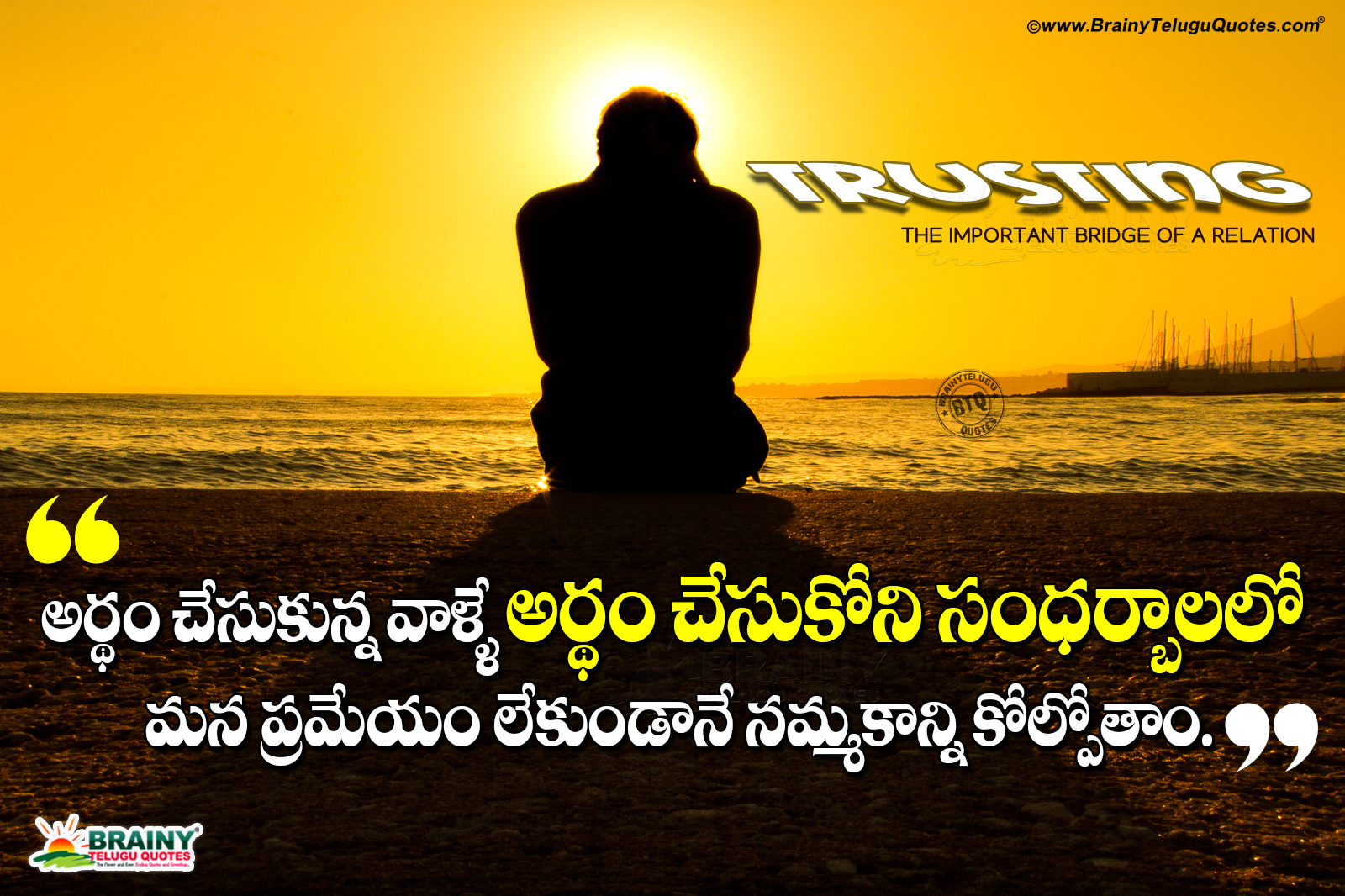 Trust Quotes In Hindi With Images: Telugu Famous Words About A Relationship-Trust Importance