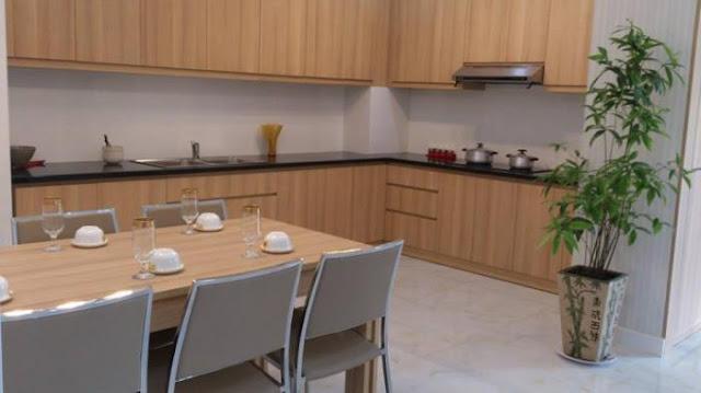 Bếp - nhà mẫu căn hộ Homyland 3