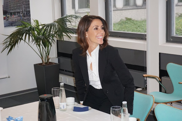 Princess Marie of Denmark visits the crisis management center in Copenhagen, where an exercise was held to simulate a nuclear accident in Copenhagen