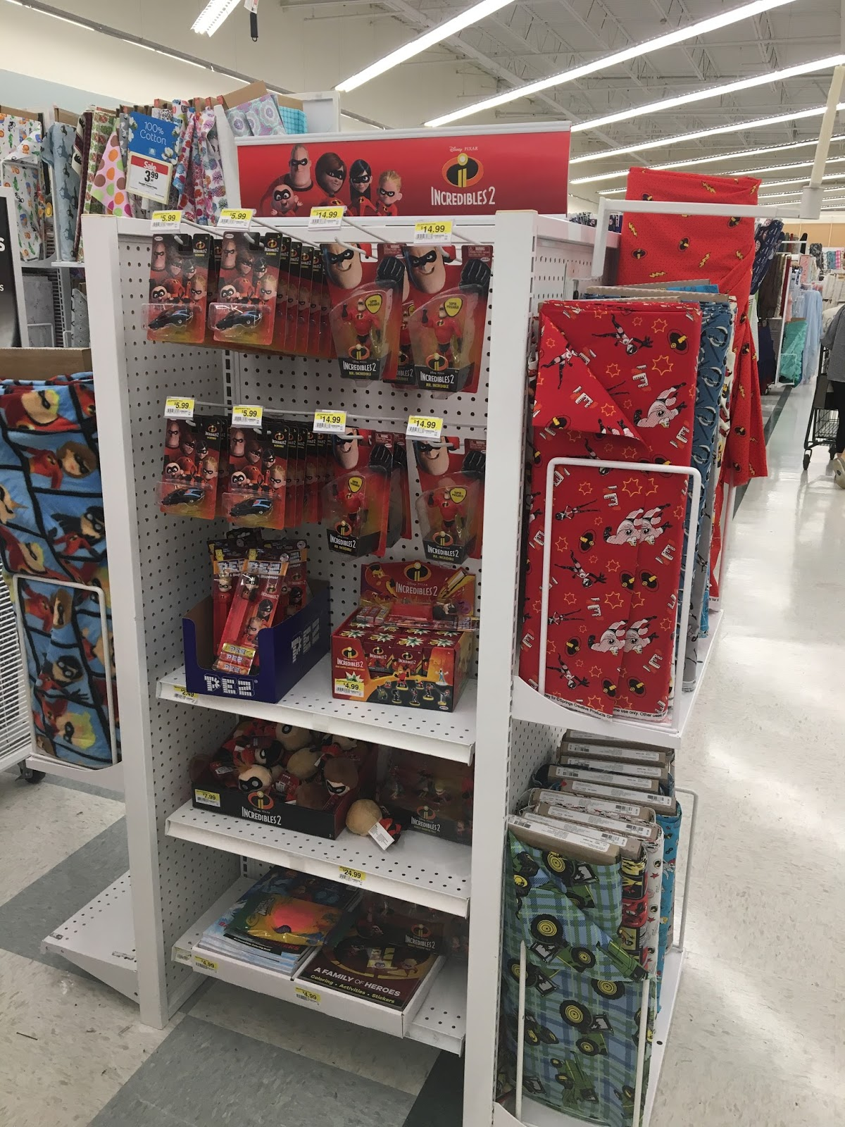 Incredibles 2 Products Found at JoAnn Fabric Stores