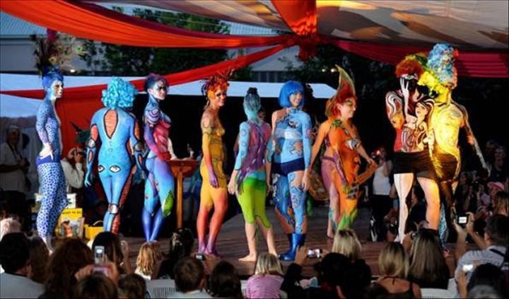 Австралийский бодиарт карнавал 8