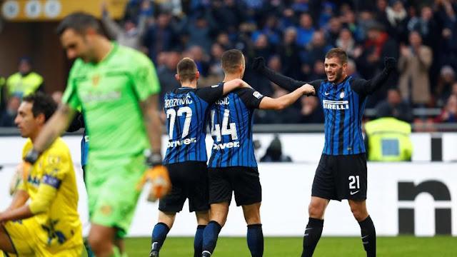 Inter Puncaki Klasemen Usai Hajar Chievo 5-0