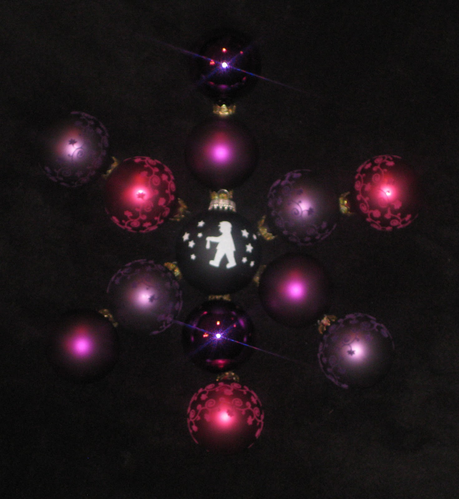 Christbaumkugeln Magenta.365 Days Of Stargazing 109 Christmas Glitter Balls