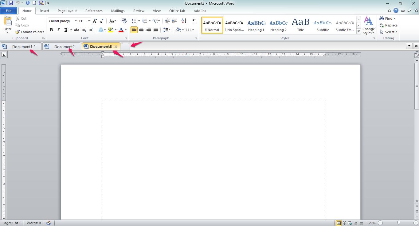 Multi Tab Halaman Microsoft Office
