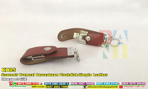 Souvenir Promosi Perusahaan Flashdisk Simple Leather