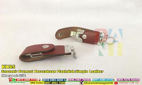 Souvenir Promosi Perusahaan Flashdisk Simple Leather