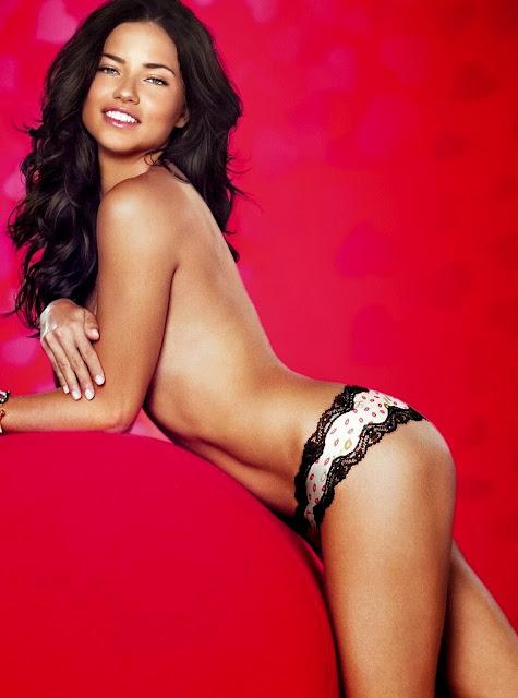 Adriana Lima hot poses Victoria's Secret sexy lingerie photoshoot
