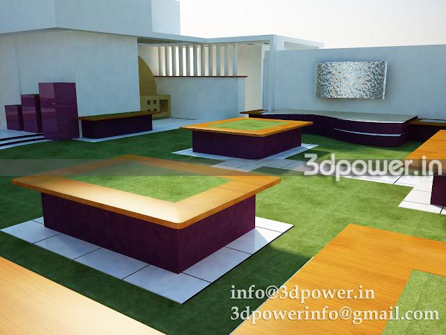 3D View Of  Garden