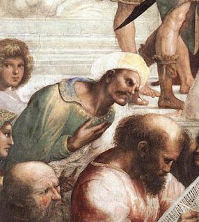 ابن رشد في مدرسة أثينا
