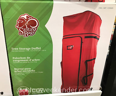 Easily put your Christmas tree away with the Santa's Bag Tree Storage Duffel