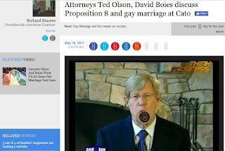 Rick Sincere Theodore Olson David Boies Cato Institute gay marriage